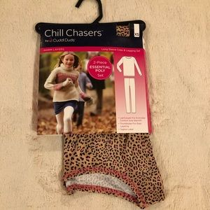 Chill Chasers Cuddl Duds Warm Layers Top Pants 4/5